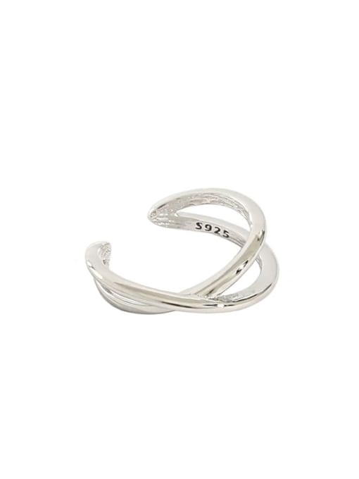 Dak Phoenix 925 Sterling Silver smooth Irregular Minimalist Clip Earring [Single] 4